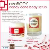 Candy Cane Body Scrub (bye bye dry skin!) Peppermint candle