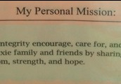 Don't forget to post your mission statement