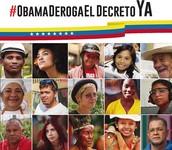 ¡Obama, Venezuela NO es una amenaza, SOMOS esperanza!