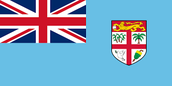 On the Fiji's flag the colour blue represents the Pacific Ocean, the Union Jack represents the history of Great Britain, the yellow lion represents strength and courage and green represents the natural resources.
