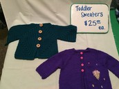 Toddler Sweaters $25