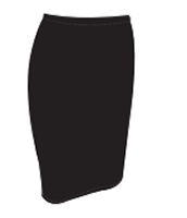 Body Con Skirt - Black - Size S