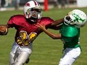 Football as a kid!