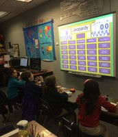 We LOVED playing Jeopardy to review for math!!