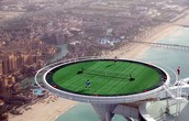 The tennis stadium from the hotel