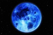 Blue moon in space