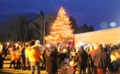 A large crowd came out for the tree lighting!