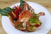 MAYs Yellow Curry Crab