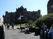 Inside Edinburgh Castle