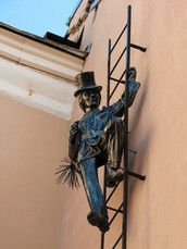 The monument to chimney sweep (Bolshaya Moskovskaya street, №1,3)
