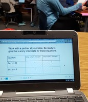 Using Peardeck in Math for interactive notes and practice