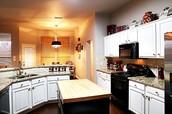 Many kitchen upgrades . granite . backsplash . flooring