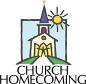 Homecoming ~ Sunday, June 7th @ 10:15 AM