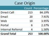 """Direct Call"" was your primary way of submitting Support cases in January."