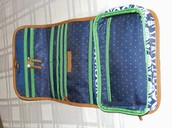 SOLD! Hang On Travel Case - Navy Ikat