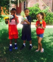 We have water gun fights on the Fourth of July.