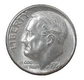 1956 Dime