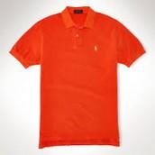 camisa naranja polo