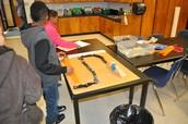 Fourth graders made Robe Goldberg machines during Genius Hour