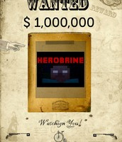 Herobrine wanted poster