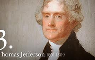 Jefferson becomes president of the U.S