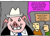 "PM John Key states, ""I like Panama hats but I don't think they look good on me."""