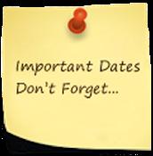 Fechas importantes y recordatorios: