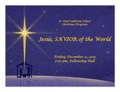 CHRISTMAS PROGRAM FOR K-8 IS TONIGHT!!