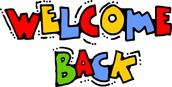 Belated Welcome Back