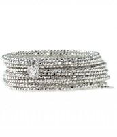 Bardot Spiral Bangle-Silver