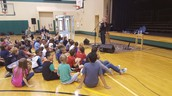 Bill Harley sang for the entire school!