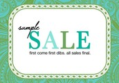 Twice a year sample sale