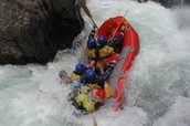 rafting in the Arkansas river.