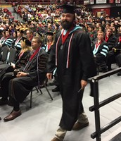 Congrats, Mr. Mabry, on your masters' degree!