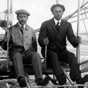 wright brothers in their plane