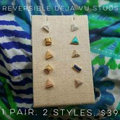 Deja Vu Studs - 2 in 1 earrings $39