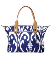 How Does She Do It - Navy Ikat
