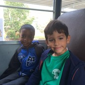 Riding on the bus!