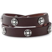 SOLD!!!!!!!      Clover Double Wrap - Brown/Silver