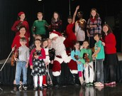 Violin Students Performed for Hunt Petroleum and Santa!