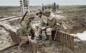 WW1 Soliders Sitting