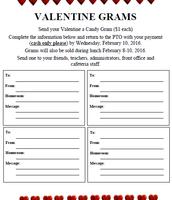 Valentine Grams for Sale through Feb. 10