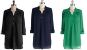 Pam Breeze-ly Tunic in Green, Navy, & Black!