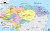 La mapa de Honduras