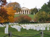 The Arlington national cemetery.