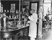 Carver in his Lab at Tuskegee Institute