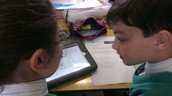 Norton and Ylenia researching about the Human Body.