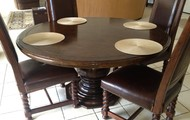 """60"""" Round Dining Table - Solid Wood"""