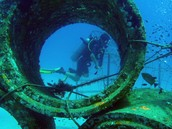 Artificial reef using concrete tubes