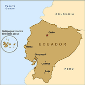 Where Ecuador is in South America.